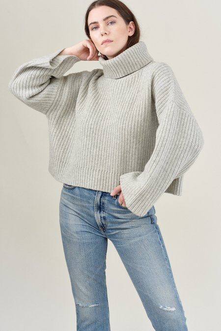 Demy Lee MARJON TURTLENECK SWEATER - Light Heather Grey