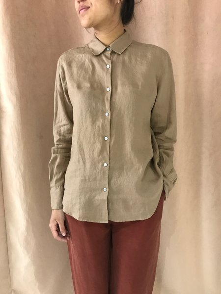 ASSEMBLY LABEL CHEMISE XANDER LINEN SHIRT - SANDSTONE