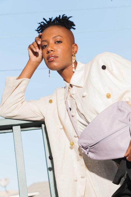 Paige Cheyne Torsion Drop Earrings - BRASS/PEARL
