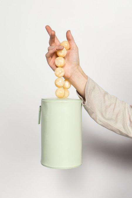 Building Block Cylinder Wristlet - Celadon