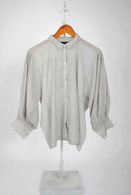 Nili Lotan Trenton Shirt - Black Pinstripe