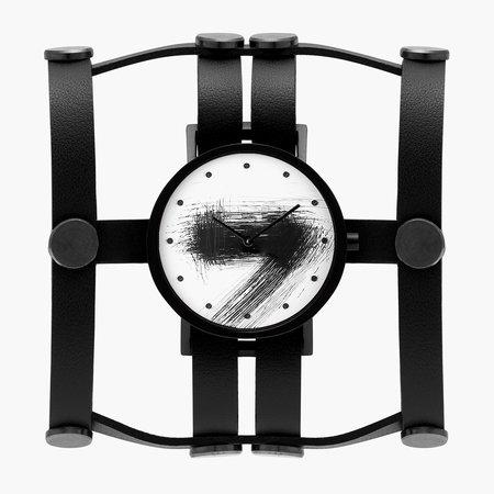 South Lane + Aumorfia Collaboration Double Silent Watch - Black