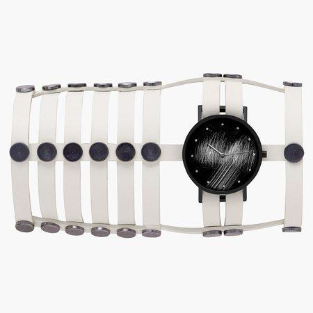 South Lane + Aumorfia Collaboration Triple Surface Watch - Off-White