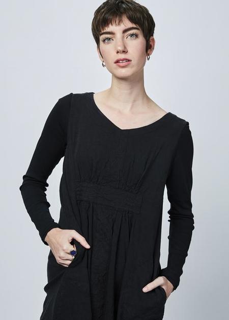 Hannoh Wessel Denise Pinch-Front Dress - black