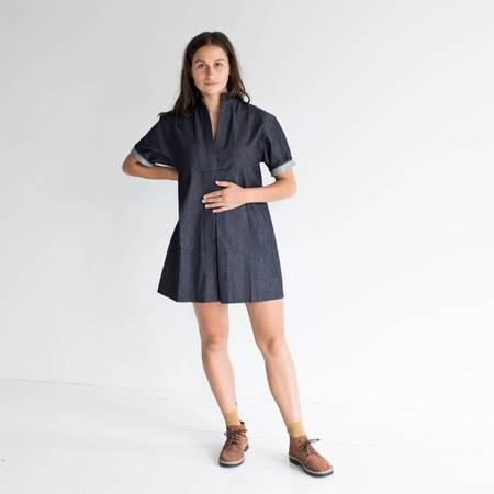 Sara Ruffin Costello Short Denim Smock Dress