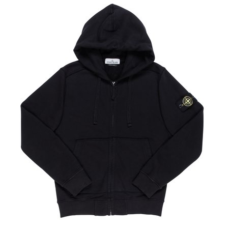 Stone Island Sweat-Shirt Zip Hoodie - Black