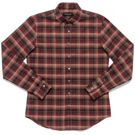 Outclass Attire Flannel Shirt - Burgundy Shadow Plaid