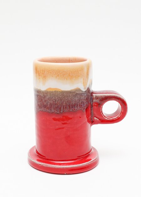 Echo Park Pottery Tall Dipped Mug - Red/Yellow