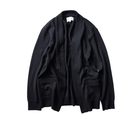 Still By Hand Buttonless Cardigan - Black