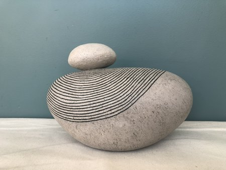 Jennifer Joh Oval Sculpture Vase