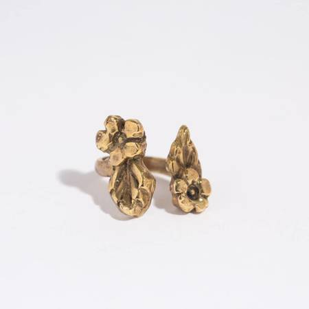 Saint Claude Open Flower Ring - Brass