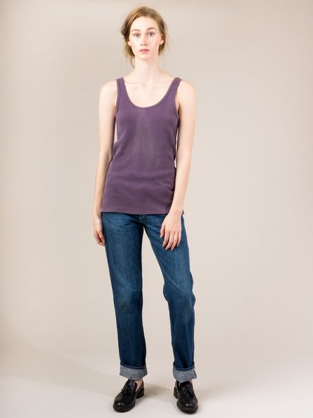 Shop Boswell Vintage Ribbed Tank - Purple