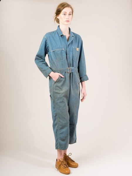 Shop Boswell Vintage Coveralls - Blue