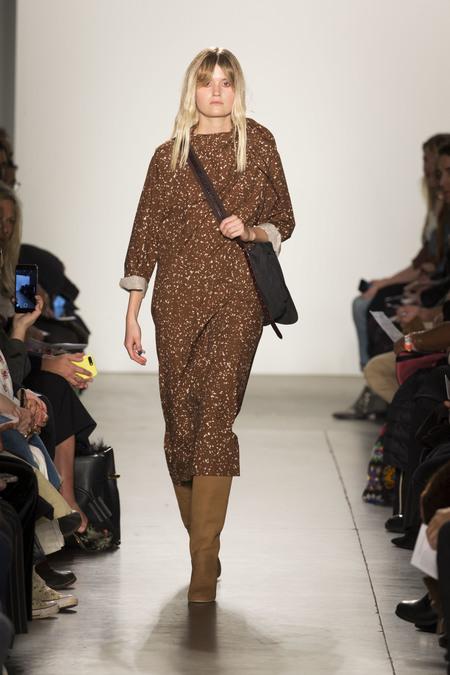 A Détacher Dagmara Dress in Chocolate Brown Haze Print