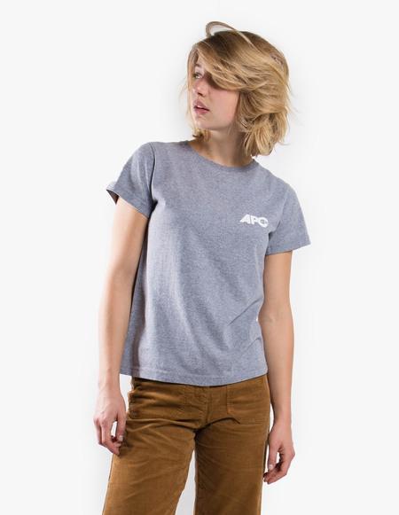 A.P.C. T-Shirt Molly (USA) - Gris Chine