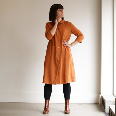 Me and Arrow Long Jacket Dress - Persimmon