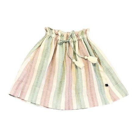 Kids Feather Drum Daria Midi Skirt - Beach Stripe