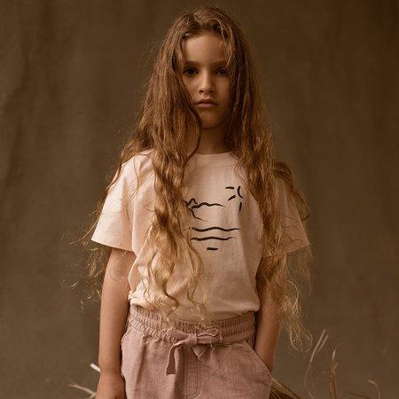 Kids Feather Drum Pixie Velvet Shorts - Dusk