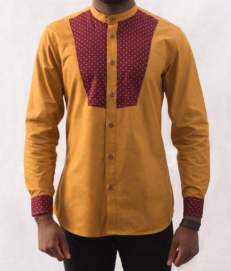 Omenka Shirt - Mustard Pattern