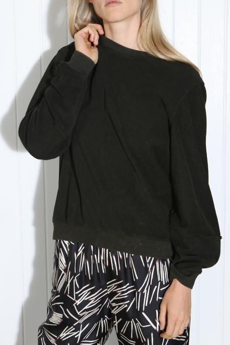 Raquel Allegra Lantern Sleeve Sweatshirt - Dark Hunter