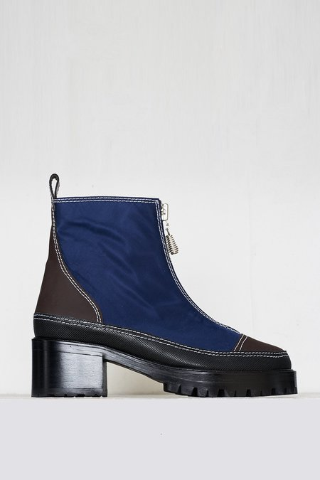 Nicole Saldana Utilitarian Chris Boot - Blue/Brown