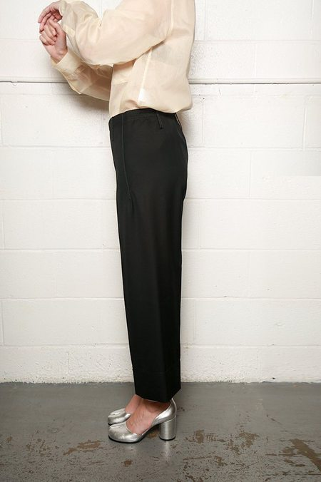 Lemaire Cropped Elasticated Pants - Black