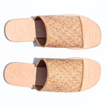 "James Smith ""Off Duty"" Woven slides - TAN"