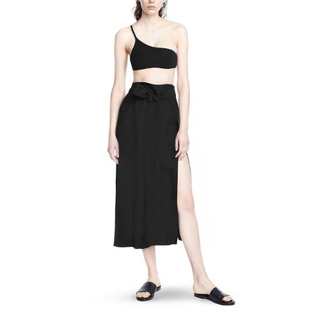 Alix Loews linen pant - Black
