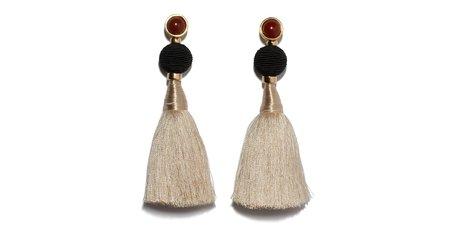 Lizzie Fortunato Puglia Fringe Earrings - gold plated brass
