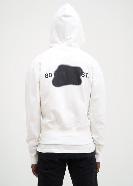 Helmut Lang Brian Roettinger Logo Hack Standard Hoodie - Chalk White