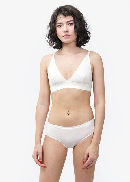 Baserange Triangle Rib Bra - OFF WHITE