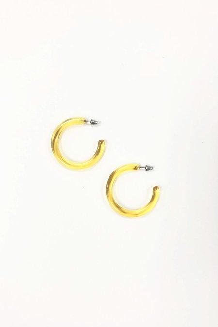 Machete Midi Hoops - Lemon