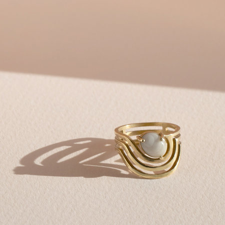 Lindsay Lewis Jewelry Sway Ring - BRASS
