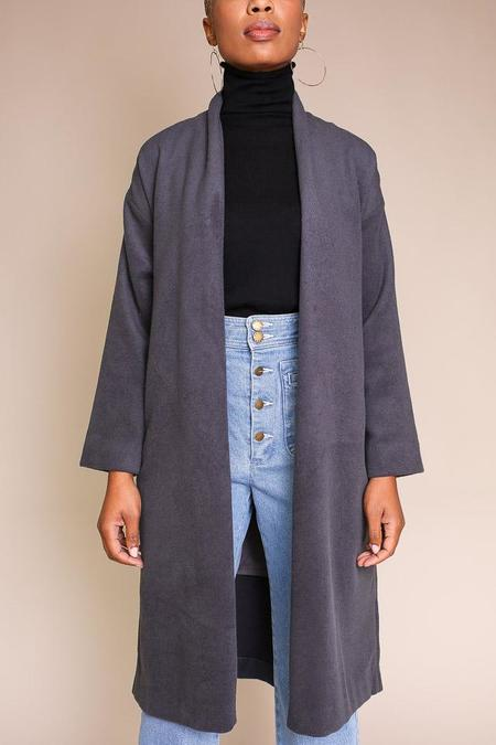 Evam Eva Robe Coat - Blue Gray