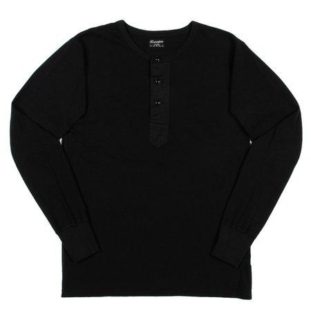 Homespun Knitwear Homespun Surplus Henley - Aged Black