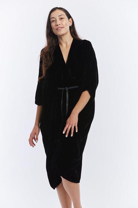Miranda Bennett Velvet O'Keeffe Dress - Black