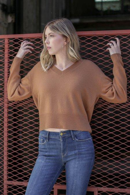 360 Cashmere Lois V-Neck Ultra Plush Pullover - Vicuna