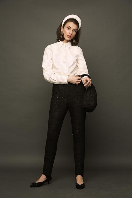 DESERT MANNEQUIN x N-DUO Stirrup trousers - black