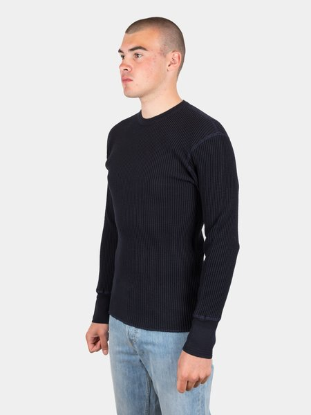 Homespun Crew Bulky Waffle Thermal - Midnight