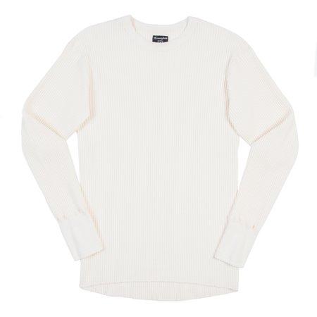 Homespun Knitwear Homespun Bulky Waffle Crew Thermal - Antler White