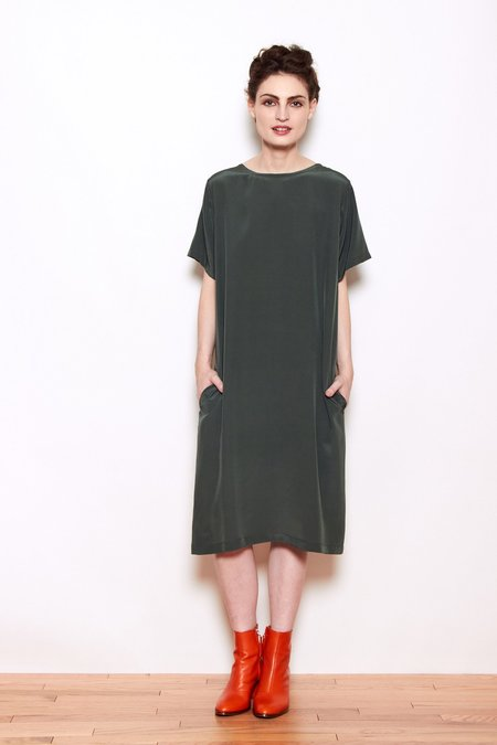 Personnel of New York Mina Dress - Olive