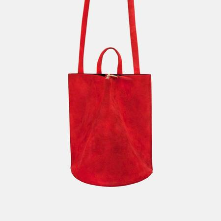 The Common Knowledge Pinch Suede Bag - Red