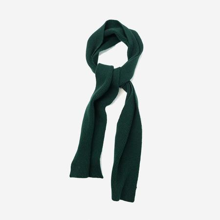 Unisex Country of Origin Honeycomb Lambswool Scarf - Green