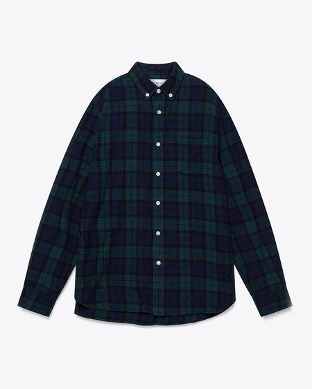 Penfield Young Black Watch Tartan Check Shirt - Green