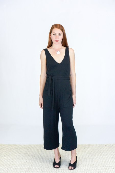 Skin Nova Crop Let Jumpsuit - Black