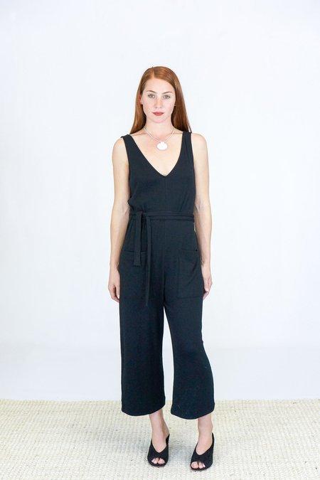 Skin Nova Crop Let Jumpsuit - Black