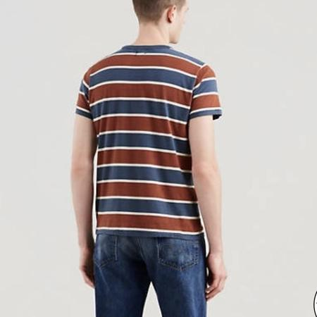 Levi's Vintage Clothing 1960s Casual Stripe Tee - Red/Navy Stripe