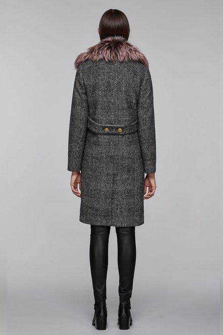 Mackage Henrita Wool Coat with Fur - Check