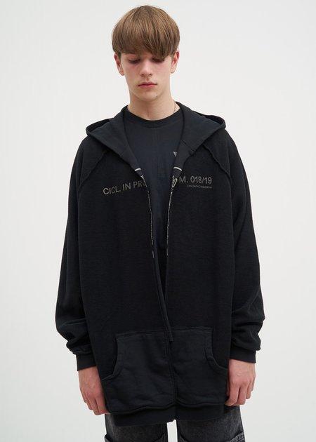 Komakino Reversible Oversized Hoodie - Black