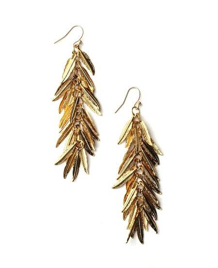 Slate Feather Earrings